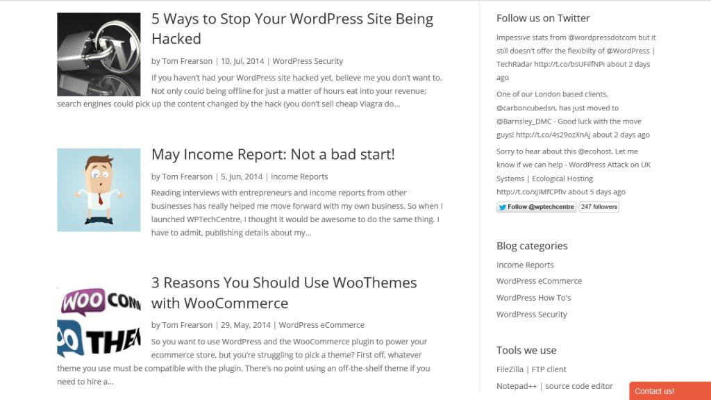 Module de blog WPTechCentre Pagebuilder